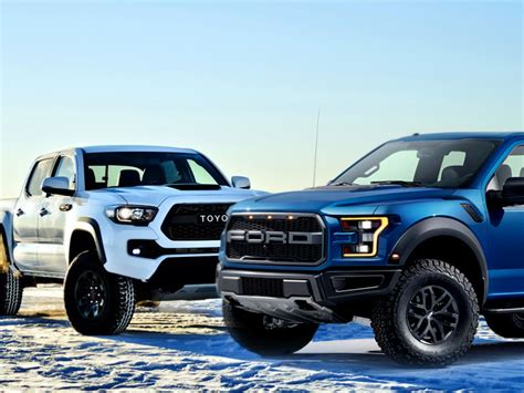 Toyota Tacoma Vs F150 Want This Buy This Ford F 150 Svt Raptor Vs Toyota