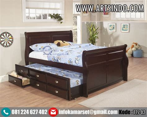 Tempat Tidur jual tempat tidur sorong ranjang anak perempuan laki