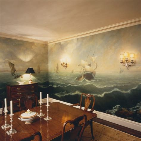 murals for bedrooms murals traditional dining room new york by anne
