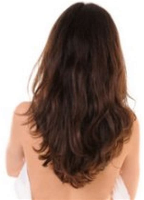 shape hair v shaped haircut long hair