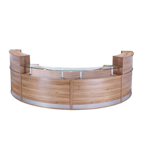 Modular Reception Desk Curved Modular Reception Desk With Glass Sign In