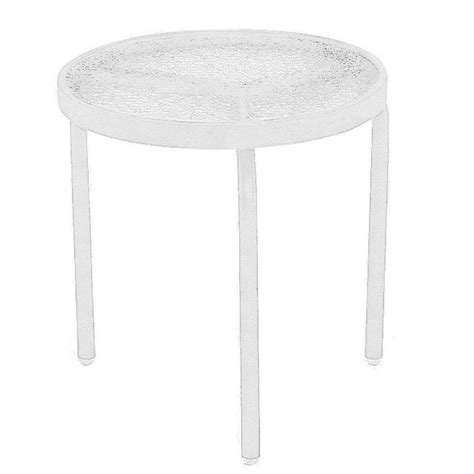 tradewinds outdoor furniture tradewinds 18 in white acrylic top commercial patio side