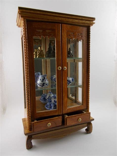Glass Display Cabinets On Ebay Antique Glass Display Cabinet Ebay