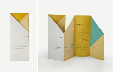 Creative Folding Paper - 45 interesting brochure designs web graphic design