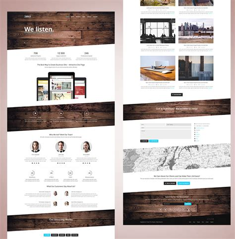 bootstrap one page template 100 best free html5 website templates and themes