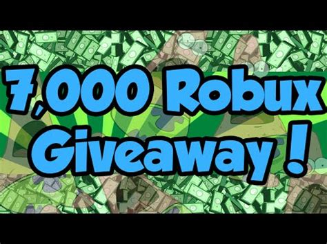 Robux Giveaway - closed 7 000 robux giveaway robux clip60