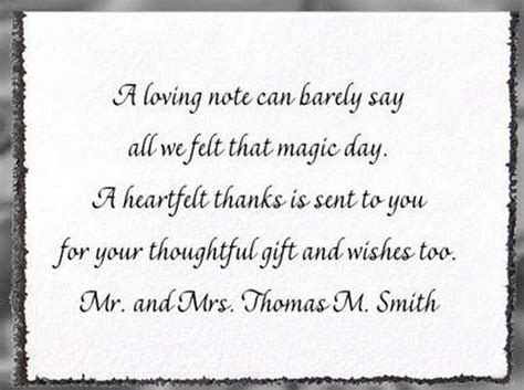 thank you wording for wedding gift from coworkers wedding thank you card wording step by step weddings