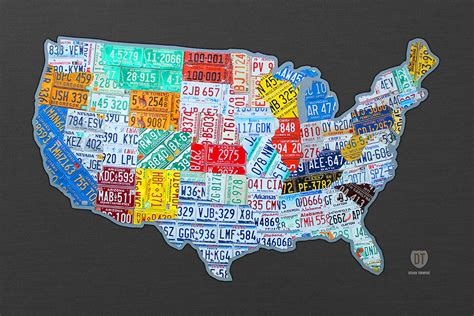 usa map license plates purchase usa license plate maps by design turnpike