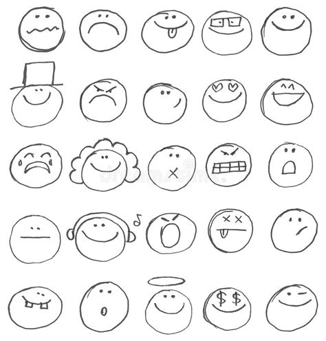 doodle emoticon emoticon doodles stock vector image of behavior