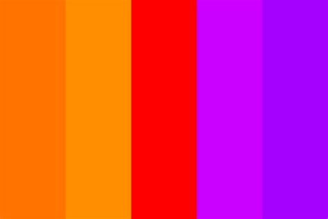 purple and orange color scheme orange to purple color palette
