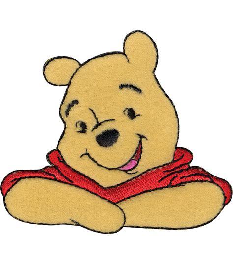 winnie apliques disney winnie the pooh iron on applique 3 quot x2 5 8 quot 1 pkg