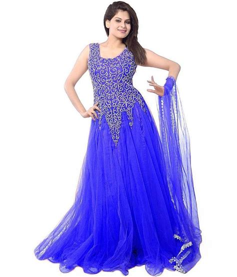 To Be Gown by Flute Fashion Blue Net Gown Buy Flute Fashion Blue Net