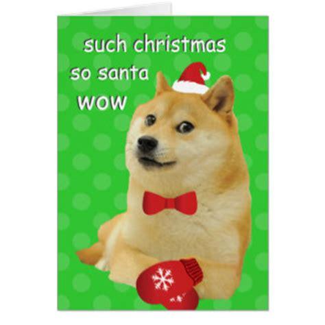 Christmas Doge Meme - funny dog christmas cards invitations zazzle co uk
