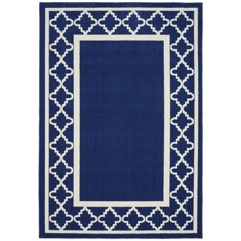 moroccan area rug garland rug moroccan frame indigo ivory 5 ft x 7 ft area rug ll190a060084l5 the home depot