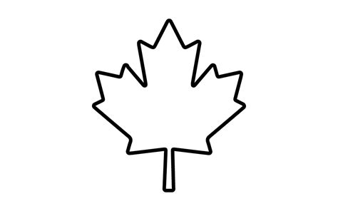 canadian leaf coloring page canadian maple leaf coloring page mewarnai clipart