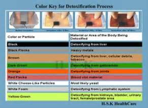 ionic foot bath color chart ion foot cleanse color chart brown hairs