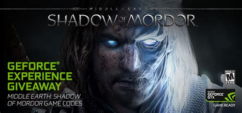 Geforce Giveaway - shadow of mordor geforce experience giveaway 50 000 copies up for grabs geforce