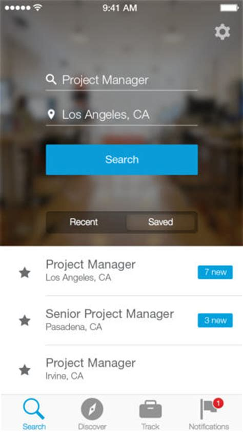 app design jobs linkedin debuts new job search iphone app for finding your