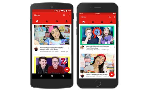 youtube moblie youtube redesigns mobile homepage with big images