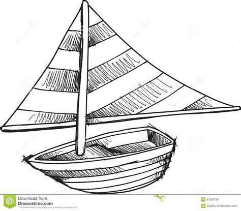 doodle boat doodle sail boat vector stock vector image of drawing