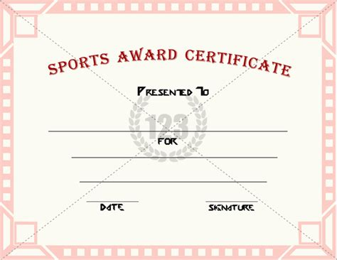 sports award templates sports award certificate templates for free