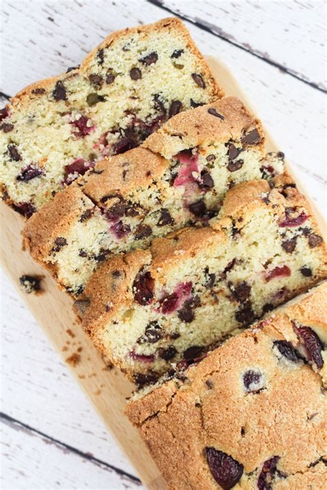 Chocolate Chips Sink To Bottom Of Cake by Chocolate Cherry Loaf Cake What Baked