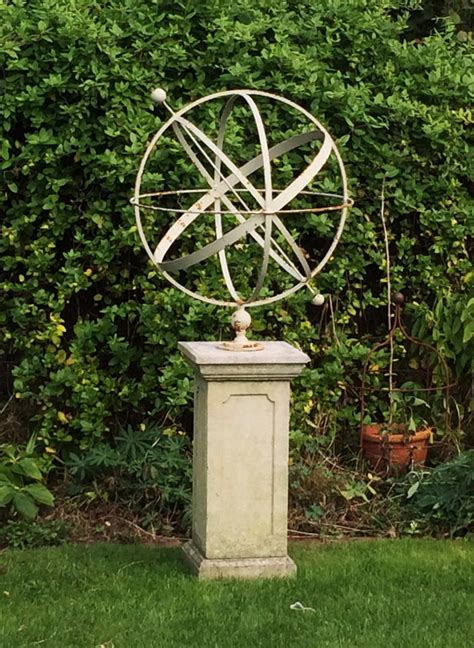 The Pedestal Company Large Decorative Armillary And Pedestal In From The