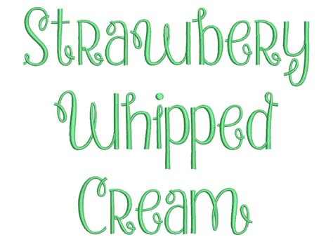 embroidery pattern font free download strawberry whipped cream font embroidery font machine