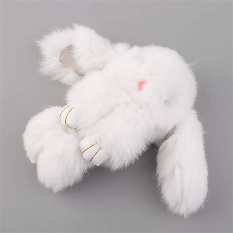 Rabbit Chain 6 inch fluffy bunny rabbit key chain ring for phone bag lucky pendant f7 ebay