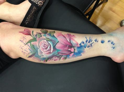 tattoo ink uk color flowers by lianne moule tattoonow