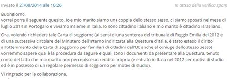 carta di soggiorno 2014 pu 242 un omosessuale ottenere permesso di soggiorno in italia