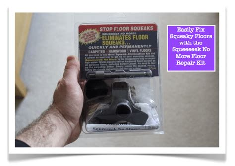Floor Repair Kit Fix Squeaky Floors In 4 Easy Steps With The Squeeeeek No More Floor Repair Kit