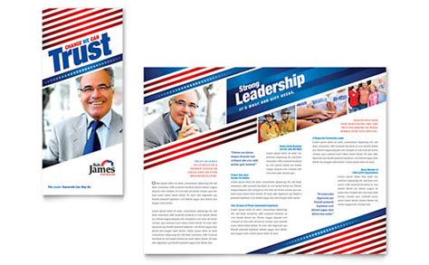 Political Caign Tri Fold Brochure Template Design Political Postcards Templates