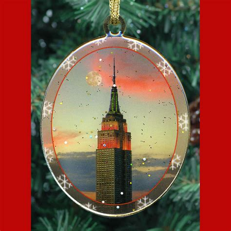 empire state building new york christmas ornament ny