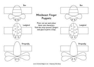 card finger puppet template finger puppets