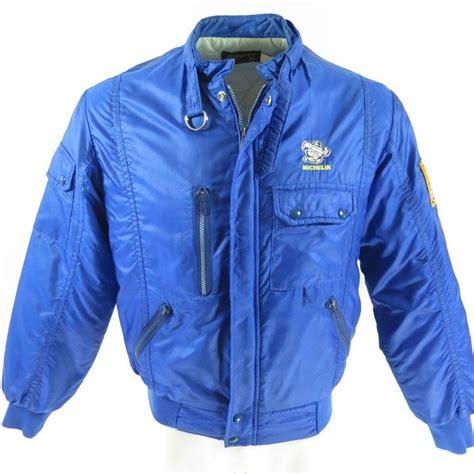 St Denim Jaket Tutu Ab vintage 80s racing jacket mens m michelin indy swingster usa made the clothing vault