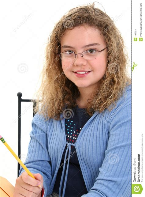 12 old girl beautiful 12 year old girl holding pencil stock photos
