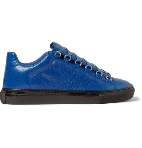 balenciaga sneakers lyst balenciaga arena creased leather sneakers in blue
