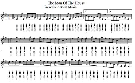 man of the house soundtrack the man of the house reel tin whistle sheet music irish folk songs