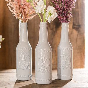 Bottle Cover Motif Natal by Vintage Inspired Ceramic Bottle With Lavender Motif
