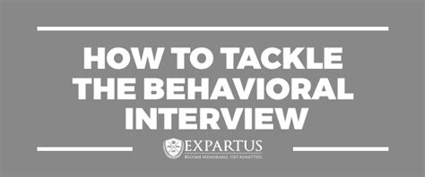 Mba Behavioral Interviews by Expartus Behavioral How To Tackle