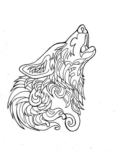 wolf mandala coloring pages sketch drawings of wolves howling to the moon coloring pages