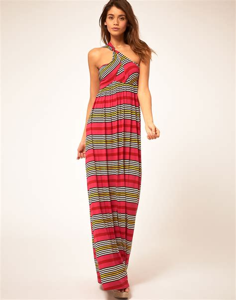 Maxi Dress Miss Andin lyst miss sixty maxi dress with stripe print in pink
