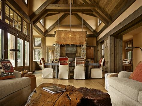 Interior Design For Kitchens by Mountain Getaway Home Is Elegantly Rustic And Just Right