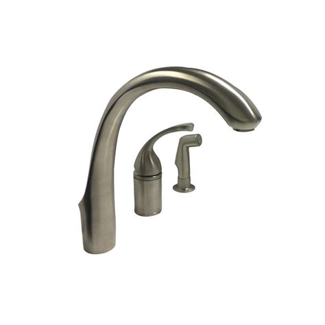 kohler brushed nickel kitchen faucet kohler k 10430 bn brushed nickel kitchen faucet with spray