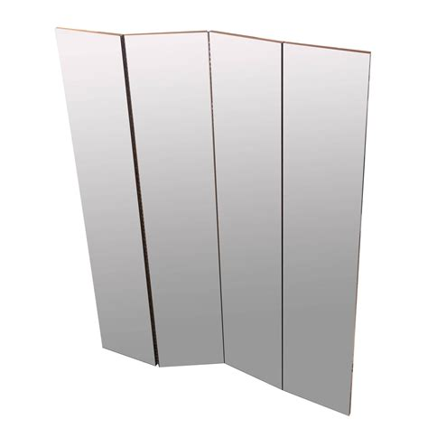 mirrored room divider four panel mirrored room divider for sale at 1stdibs