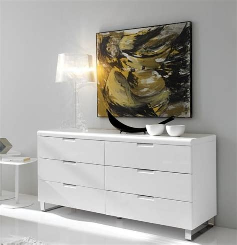 Chest Of Drawers White High Gloss by Alamo Modern Sideboard Or Chest Of Drawers In White High