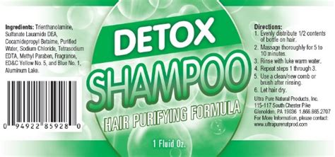 Detox Directions by Cleansing Detox Shoo Ultra Products