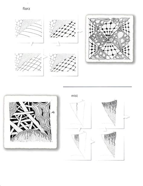 zentangle pattern charts printable zentangles infocap ltd