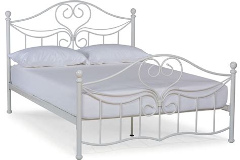 Julliet Small Double Metal Bed Frame 4ft White Metal White Bed Frame